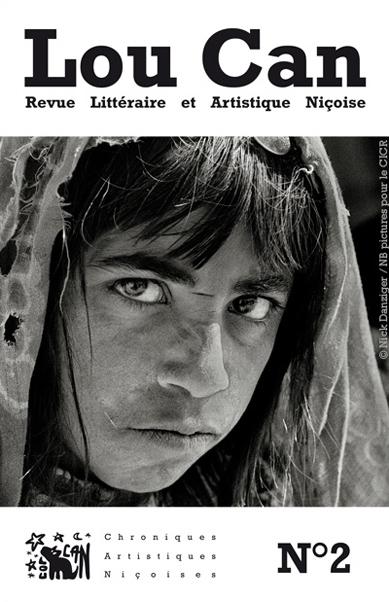 Ci-dessus le numéro 2 de la revuesur le thème de la Guerre(s)! avec une couverture illustrée par Nick Danziger © Nick Danziger / NB pictures pour le CICR Le droit d'utilisation de la photo de couverture n'est autorisé que dans le cadre de la promotion du numéro 2 de la revue Lou Can.