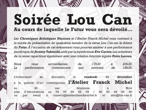Invitation à la soirée de lancement du Lou Can 4 sur le thème du Futur.