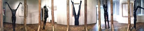 L'installation de Mauro Corda à l'occasion de la Biennale de l'UMAM 2014.