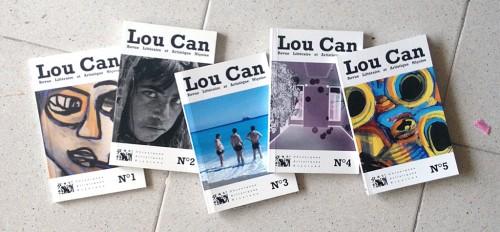 Les cinq numéros de la revue Lou Can